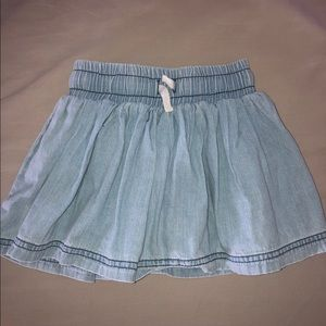 3t girls denim skirt